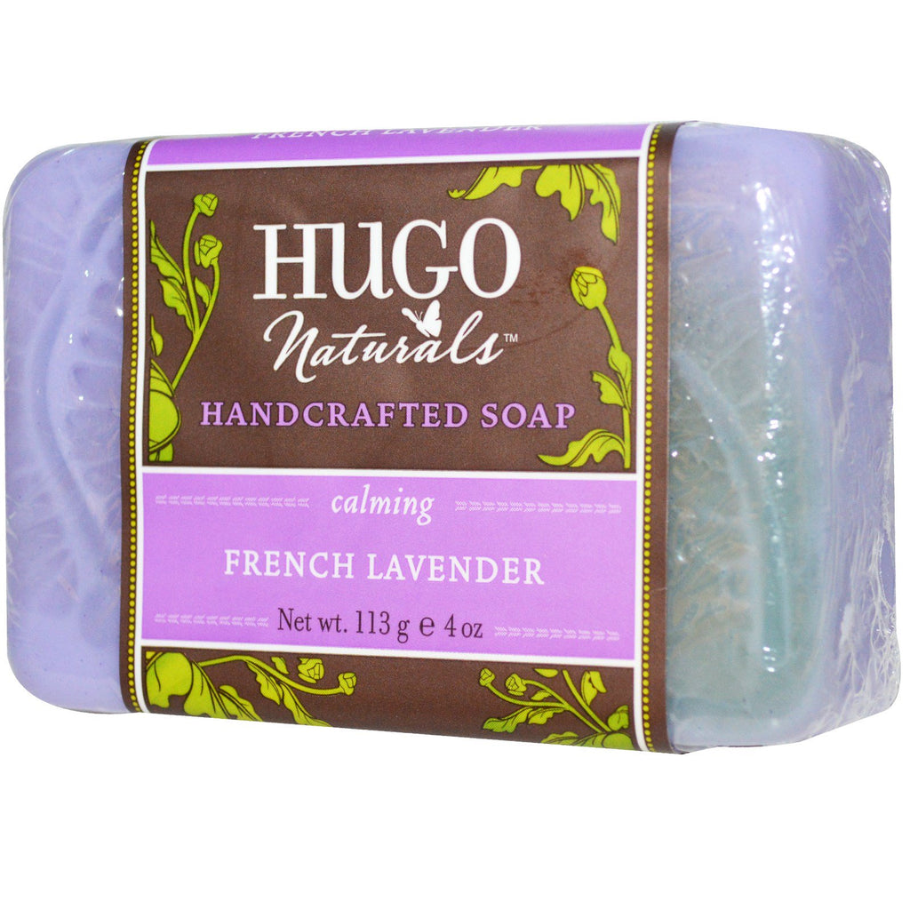 Hugo Naturals, Handcrafted Soap, French Lavender, 4 oz (113 g)