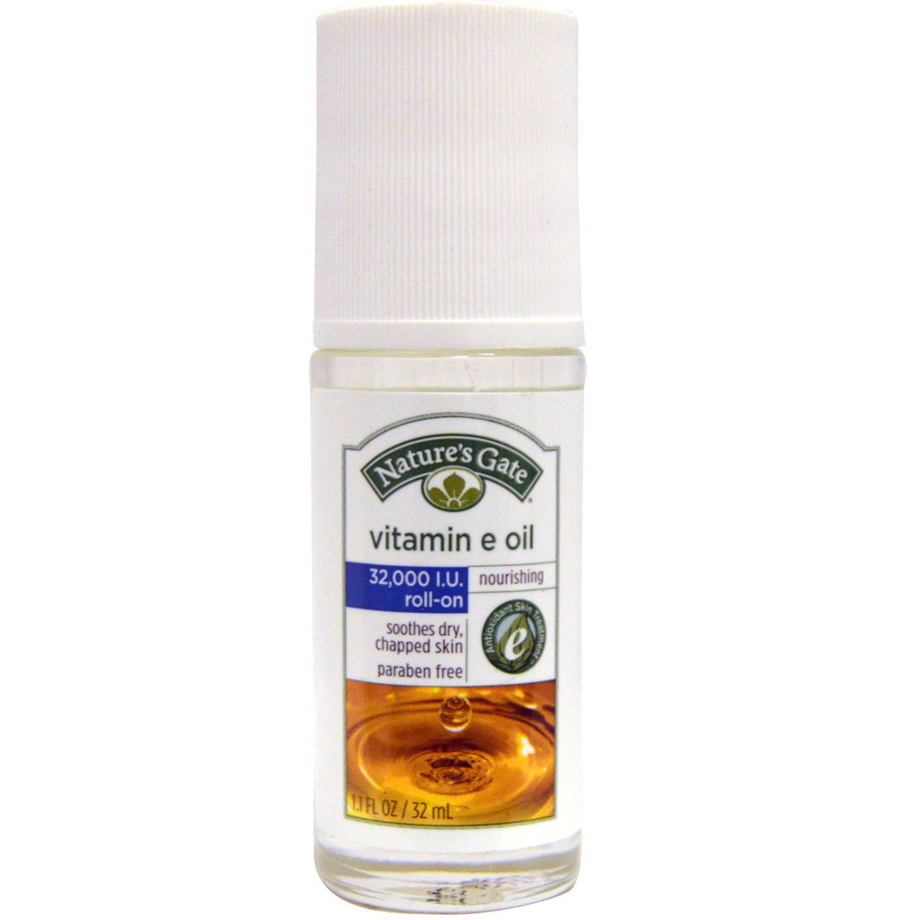 Nature's Gate Vitamin E Oil Roll-On 32000 IU 1.1 fl oz (32 ml)