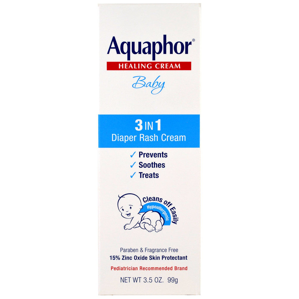 Aquaphor, Baby, Healing Cream, 3 In 1 Diaper Rash Cream, 3.5 oz (99 g)