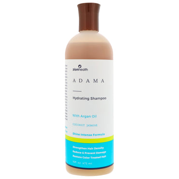Zion Health, Adama, Hydrating Shampoo, Coconut Jasmine, 16 fl oz (473 ml)