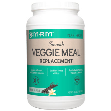MRM, Smooth Veggie Meal Replacement, Vanilla Bean, 3 lbs (1,361 g)