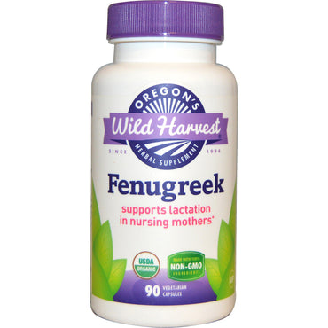 Oregon's Wild Harvest, Fenugreek, Non-GMO, 90 Vegetarian Capsules