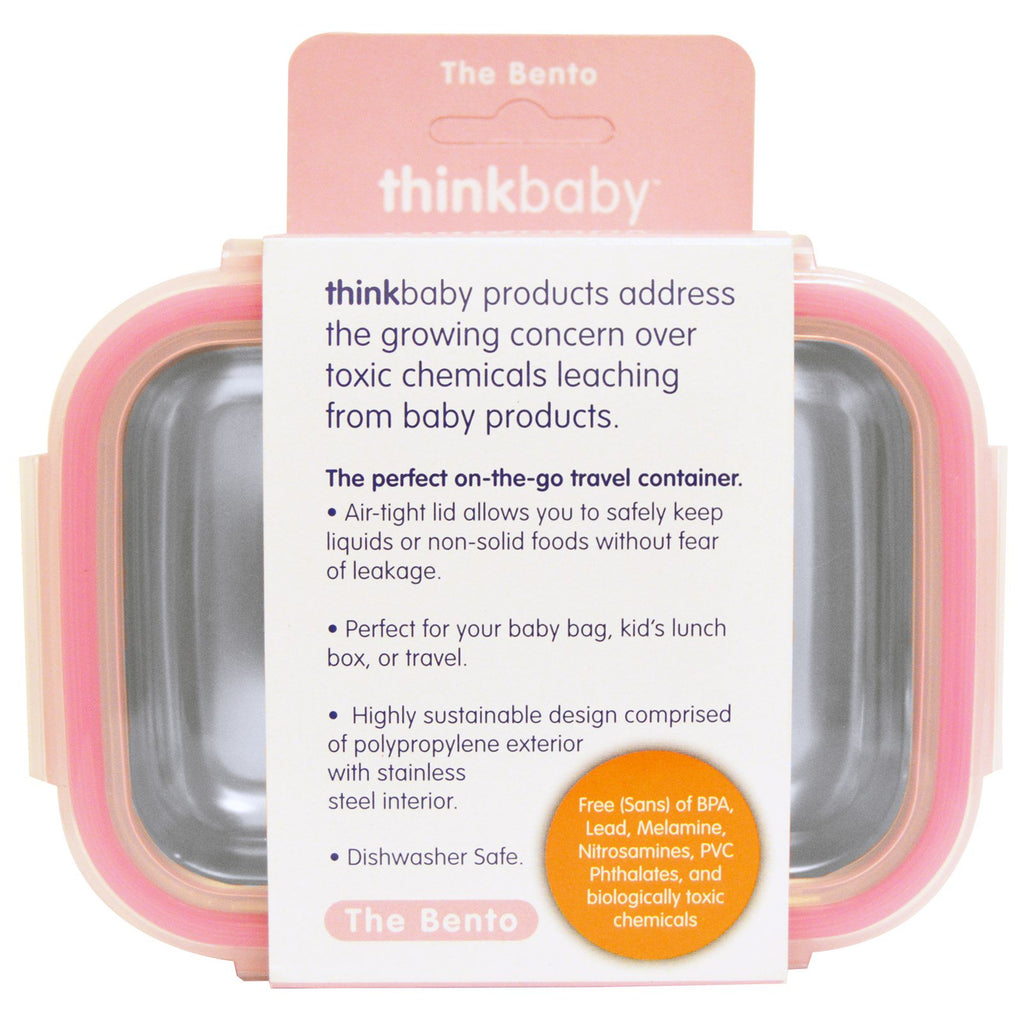 Think, Thinkbaby, The Bento Box, Pink, 9 oz (250 ml)