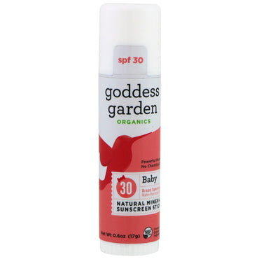 Goddess Garden Organics Natural Mineral Sunscreen Stick Baby SPF 30 0.6 oz (17 g)