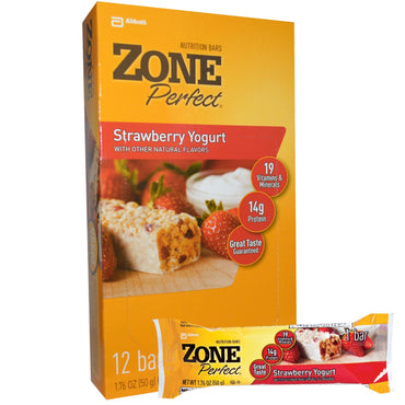 ZonePerfect Nutrition Bars Strawberry Yogurt 12 Bars 1.76 oz (50 g) Each