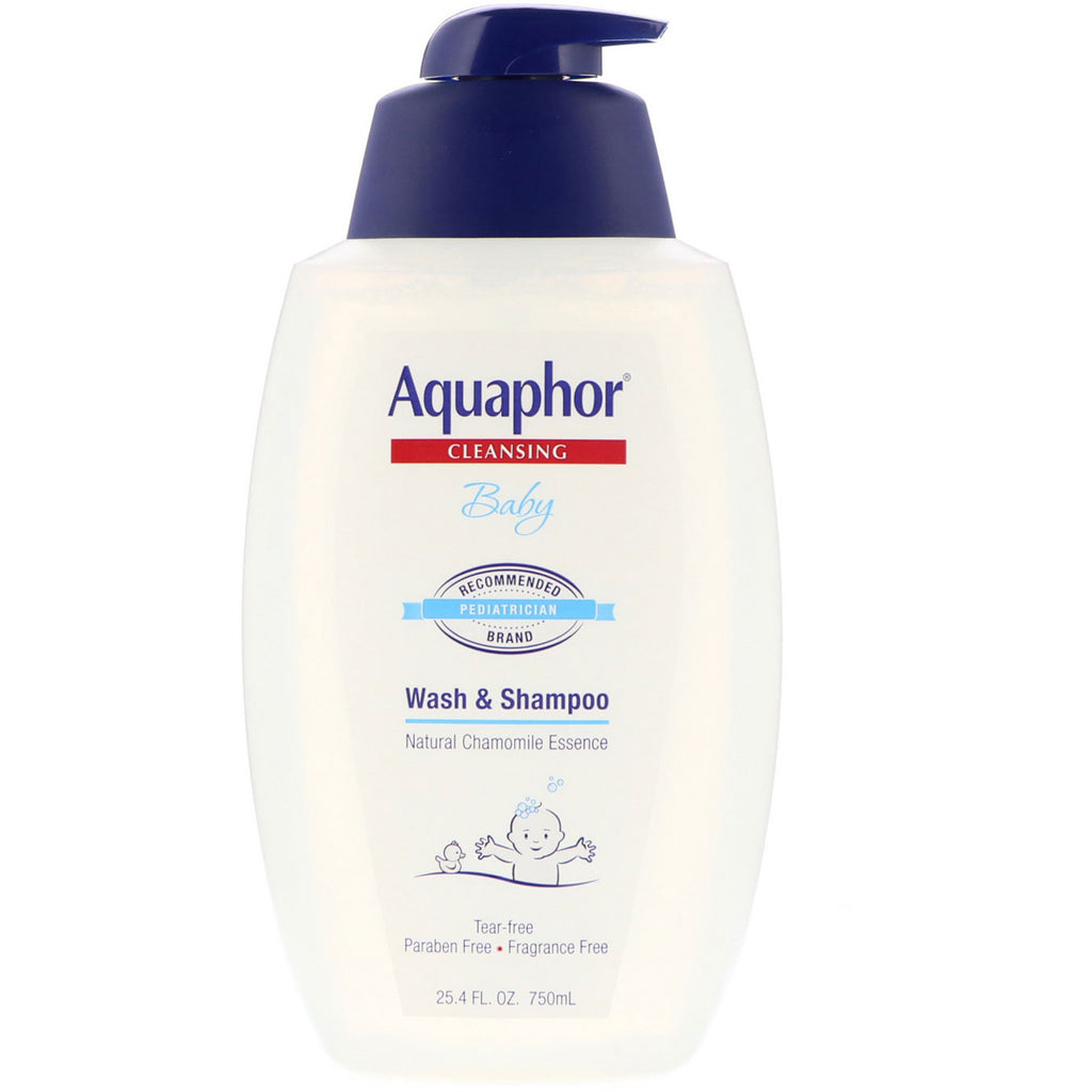 Aquaphor, Baby, Wash & Shampoo, Fragrance Free, 25.4 fl oz (750 ml)