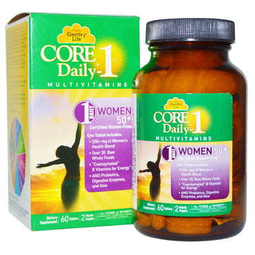 Country Life, Core Daily-1 Multivitamins, Women 50+, 60 Tablets