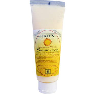 Tate's The Natural Miracle Sunscreen SPF 30 4 fl oz