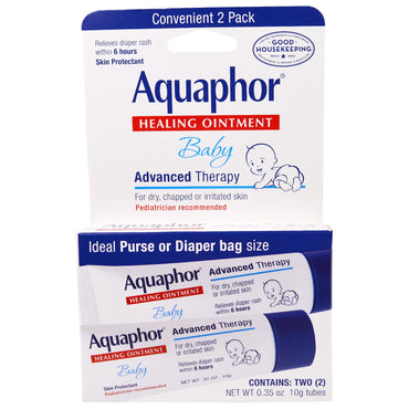 Aquaphor, Baby, Healing Ointment, Skin Protectant, 2 Tubes, 0.35 oz (10 g) Each