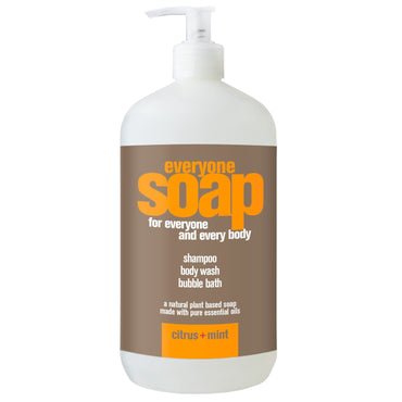 EO Products, Everyone Soap for Everyone and Every Body, Citrus + Mint, 32 fl oz (960 ml)