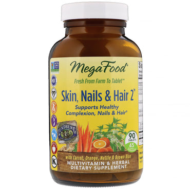MegaFood Skin Nails & Hair 2 90 Tablets