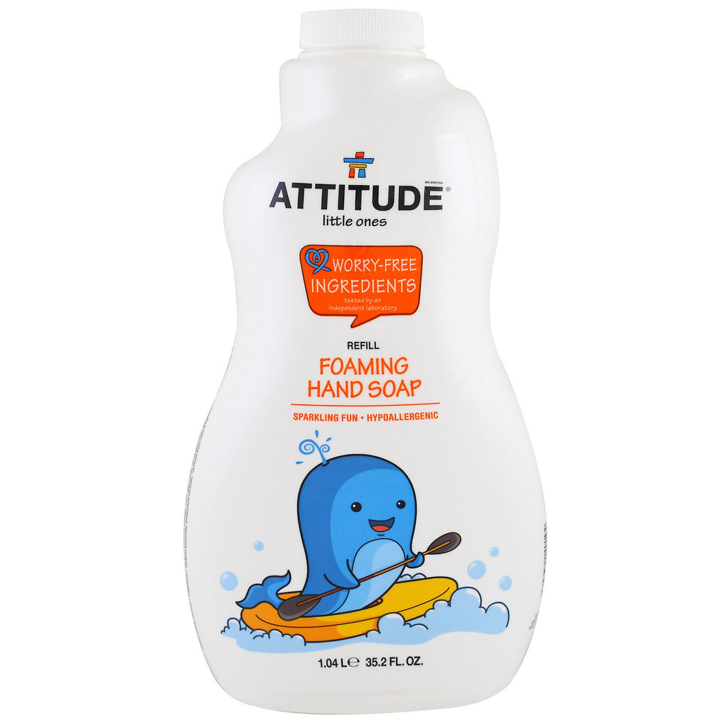 ATTITUDE, Little Ones, Foaming Hand Soap, Refill, 35.2 fl oz (1.04 l)