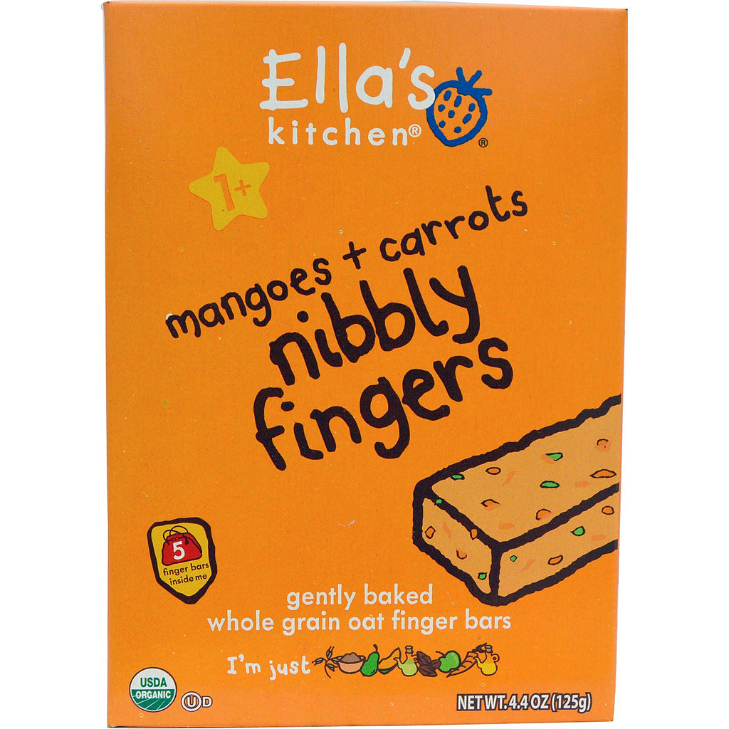 Ella's Kitchen Nibbly Fingers Mangoes + Carrots 5 Bars 4.4 oz (125 g)