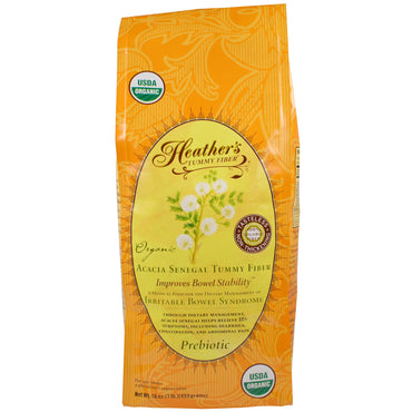 Heather's Tummy Care, Organic Acacia Senegal Tummy Fiber, 16 oz (453 g)