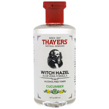 Thayers, Witch Hazel, Aloe Vera Formula, Alcohol Free Toner, Cucumber, 12 fl oz (355 ml)