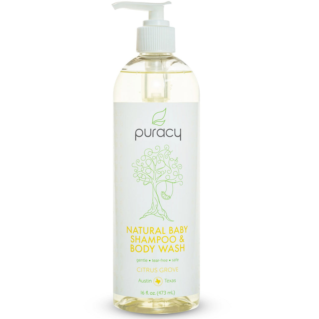 Puracy, Natural Baby Shampoo & Body Wash, Citrus Grove, 16 fl oz (473 ml)