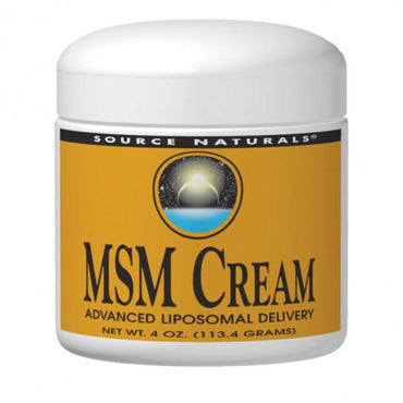 Source Naturals, MSM Cream, 4 oz (113.4 g)