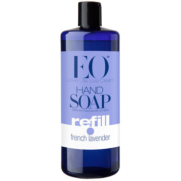 EO Products, Hand Soap, Refill, French Lavender, 32 fl oz (946 ml)