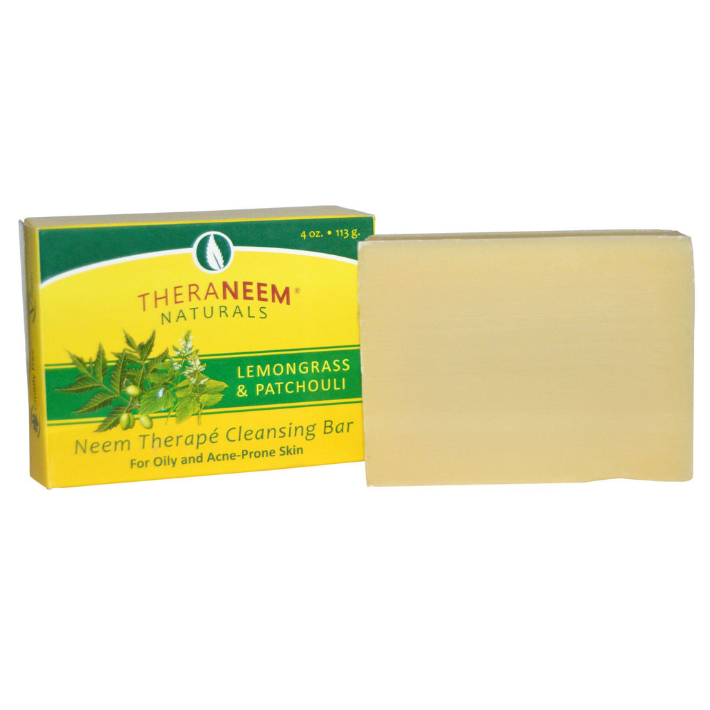 Organix South, TheraNeem Naturals, Neem Therapé Cleansing Bar, Lemongrass & Patchouli, 4 oz (113 g)