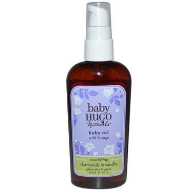 Hugo Naturals, Baby Oil, Chamomile & Vanilla, 4 fl oz (118 ml)