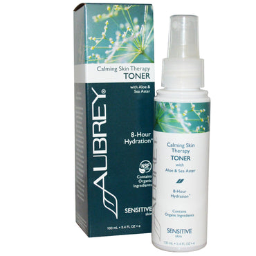 Aubrey Organics, Calming Skin Therapy, Toner, Sensitive Skin, 3.4 fl oz (100 ml)