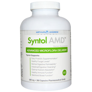 Arthur Andrew Medical, Syntol AMD, Advanced Microflora Delivery, 500 mg, 360 Capsules