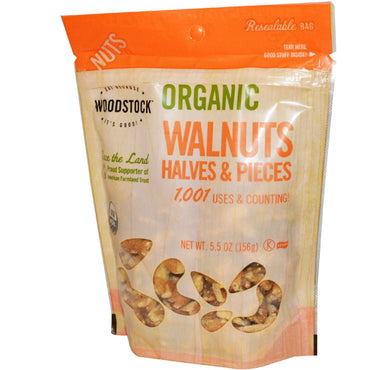 Woodstock, Organic Walnuts, Halves and Pieces, 5.5 oz (156 g)