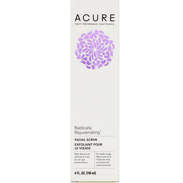 Acure, Radically Rejuvenating, Facial Scrub, 4 fl oz (118 ml)