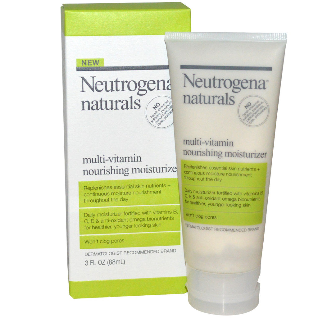 Neutrogena, Neutrogena, Naturals, Multi-Vitamin Nourishing Moisturizer, 3 fl oz (88 ml)