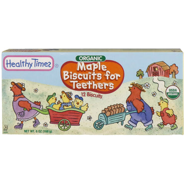Healthy Times, Organic Biscuits for Teethers, Maple, 12 Biscuits, 6 oz (168 g)