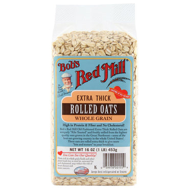 Bob's Red Mill, Extra Thick Rolled Oats, Whole Grain, 16 oz (1 lb) 453 g
