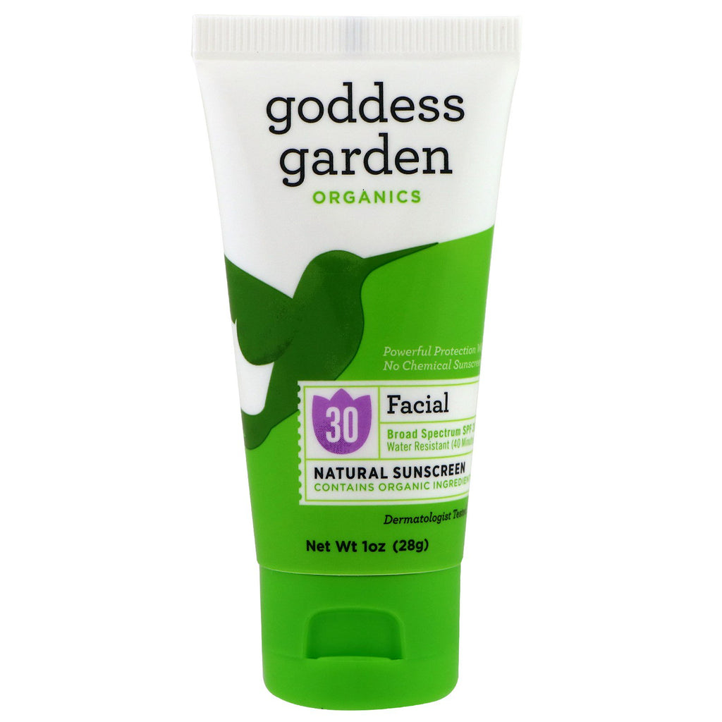 Goddess Garden Organics Facial Natural Sunscreen SPF 30 1 oz (28 g)