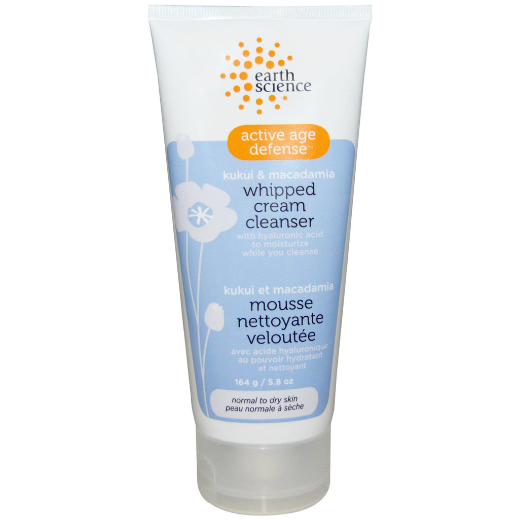 Earth Science, Active Age Defense, Whipped Cream Cleanser, Kukui & Macadamia, 5.8 oz (164 g)