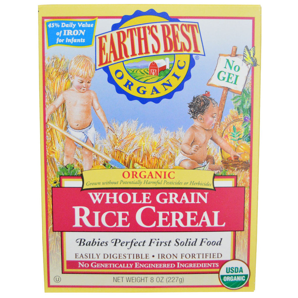 Earth's Best Organic Whole Grain Rice Cereal 8 oz (227 g)
