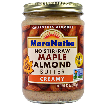 MaraNatha, Maple Almond Butter, Creamy, 12 oz (340 g)