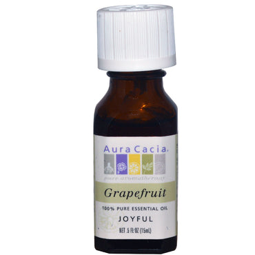 Aura Cacia, 100% Pure Essential Oil, Grapefruit, 0.5 fl oz (15 ml)