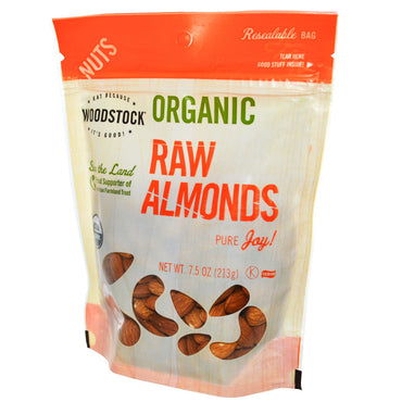 Woodstock, Organic, Raw Almonds, 7.5 oz (213 g)