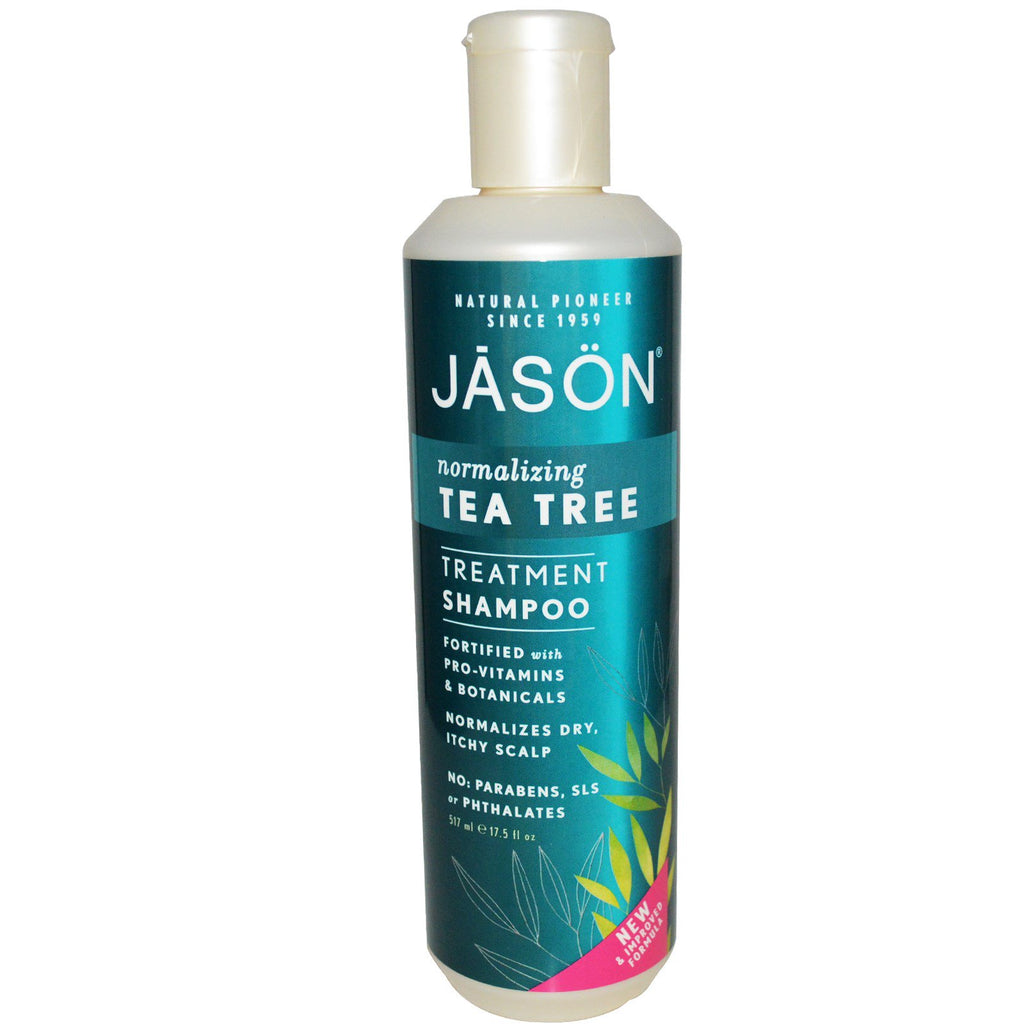 Jason Natural, Treatment Shampoo, Normalizing Tea Tree, 17.5 fl oz (517 ml)