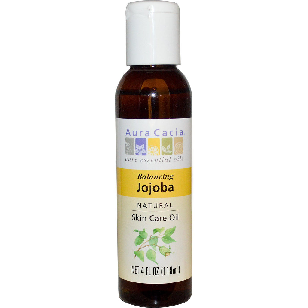Aura Cacia, Natural Skin Care Oil, Balancing Jojoba, 4 fl oz (118 ml)