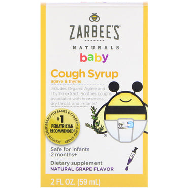 Zarbee's Baby Cough Syrup Natural Grape Flavor 2 fl oz (59 ml)