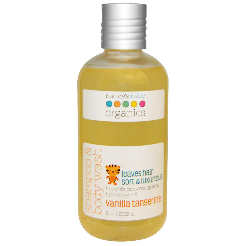 Nature's Baby Organics, Shampoo & Body Wash, Vanilla Tangerine, 8 oz (236.5 ml)