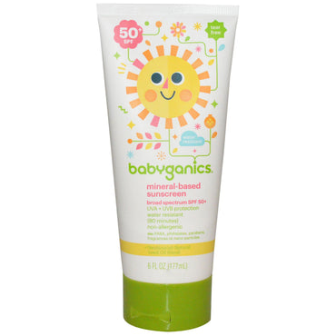 BabyGanics Mineral-Based Sunscreen 50+ SPF 6 fl oz (177 ml)