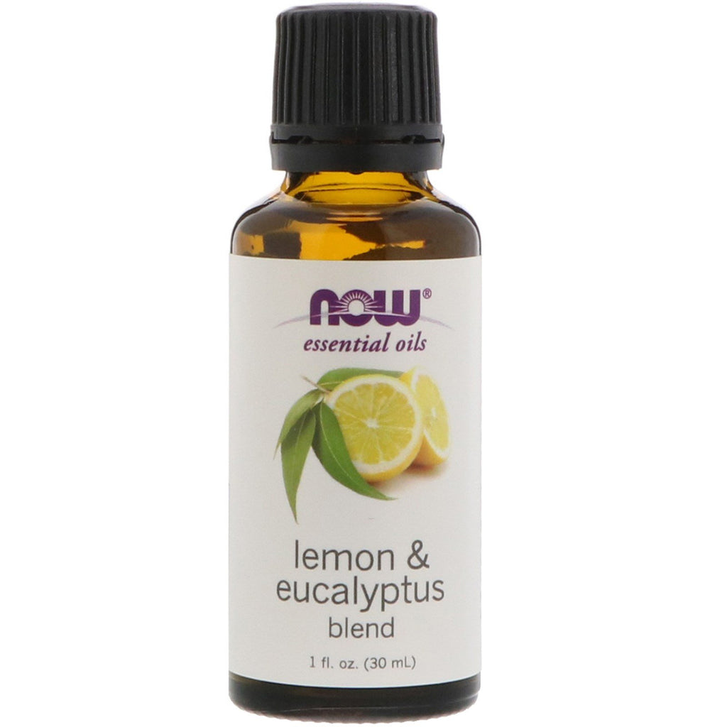 Now Foods Essential Oils Lemon & Eucalyptus Blend 1 fl oz (30 ml)