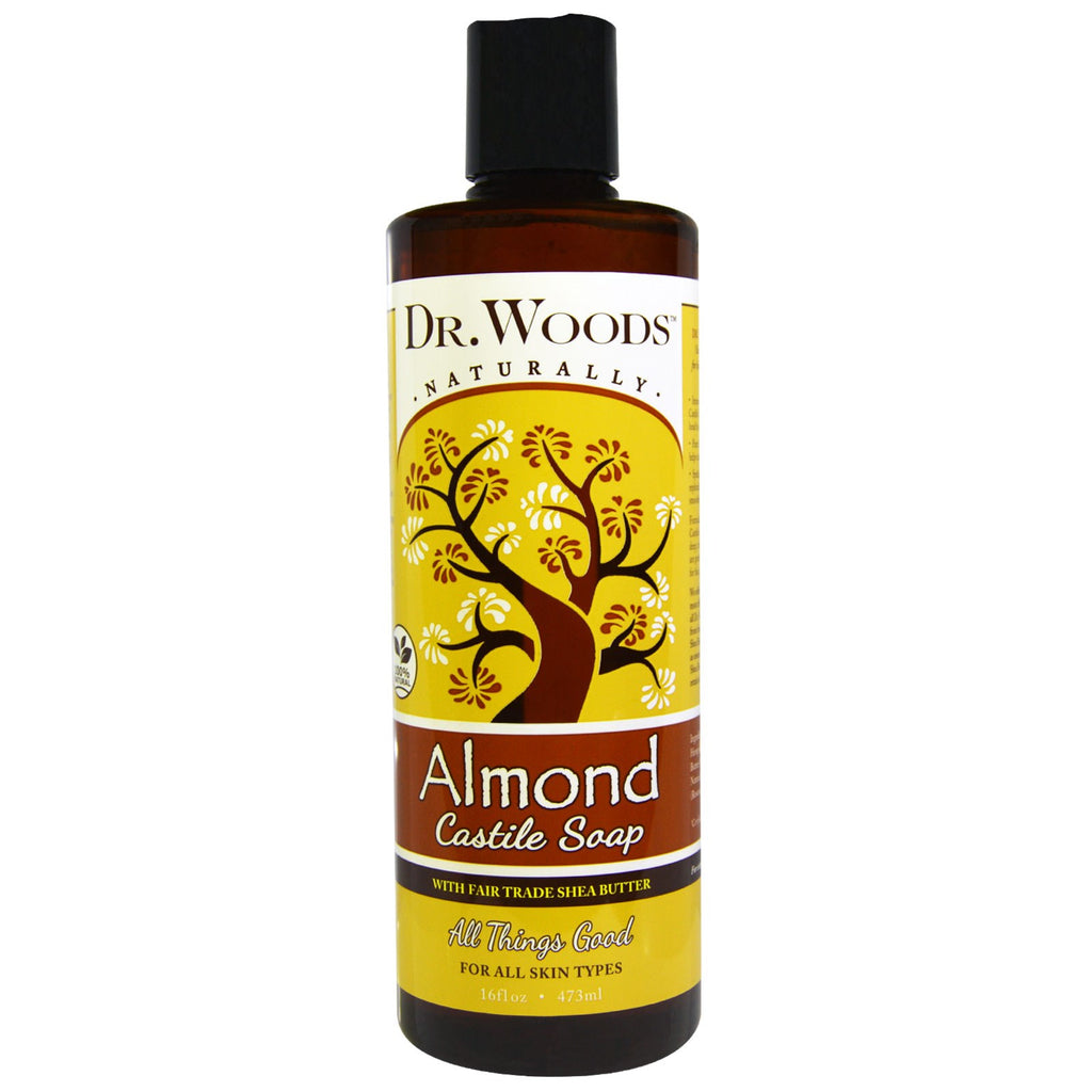 Dr. Woods, Almond Castile Soap with Fair Trade Shea Butter, 16 fl oz (473 ml)