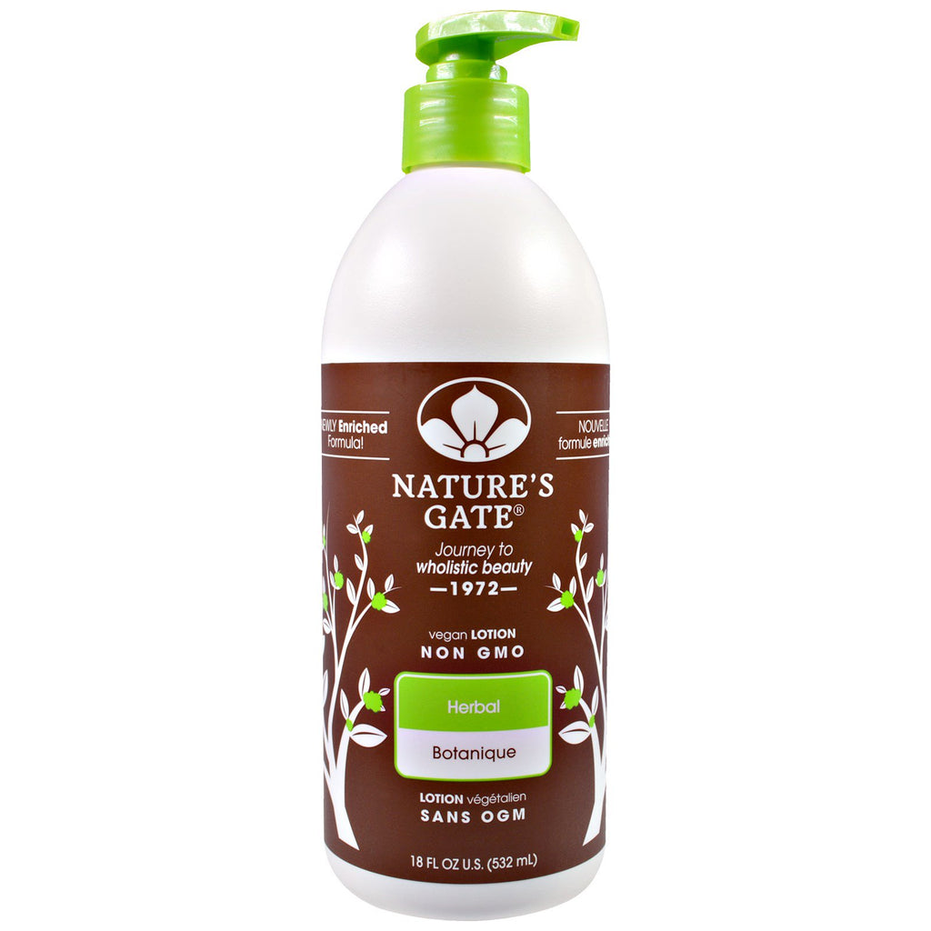 Nature's Gate, Lotion, Herbal, 18 fl oz (532 ml)