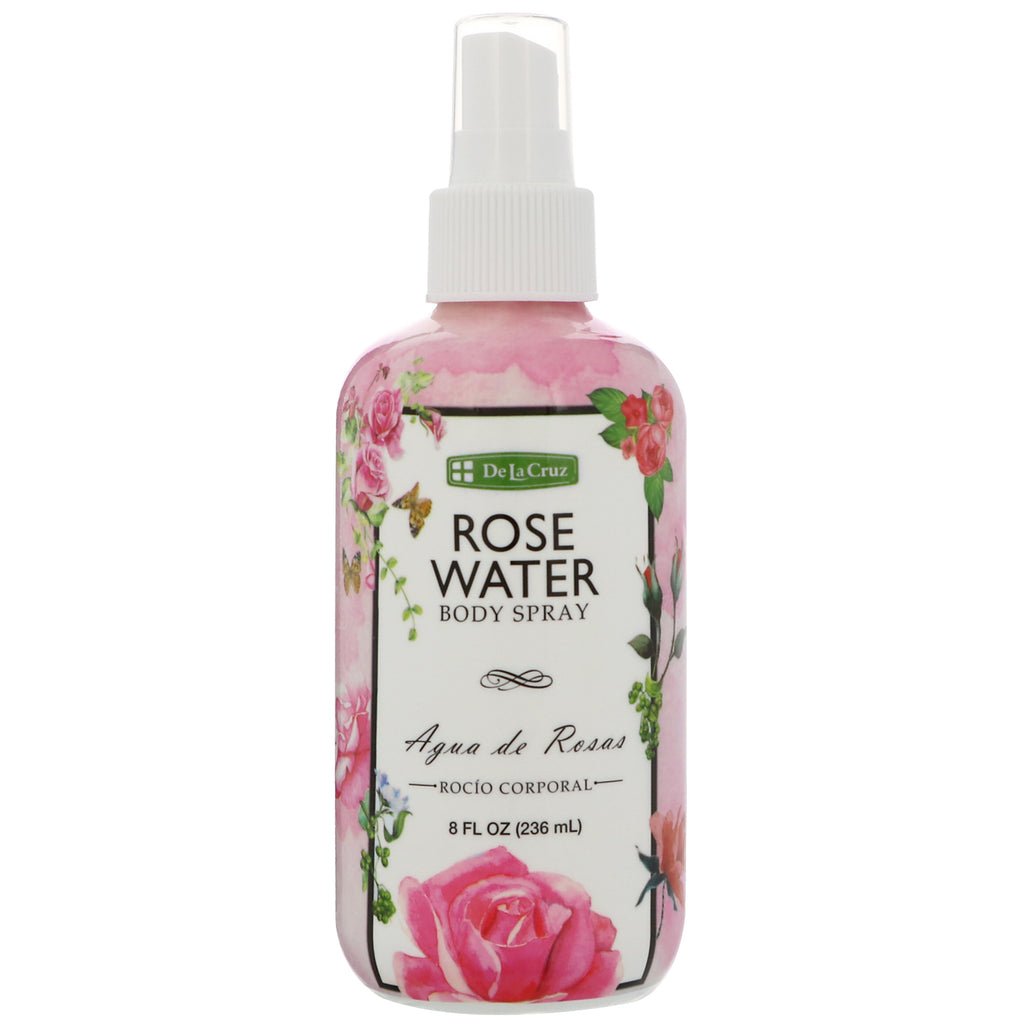 De La Cruz, Rose Water Body Splash, 8 fl oz (236 ml)