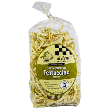 Al Dente Pasta Garlic Parsley Fettuccine Noodles 12 oz (341 g)