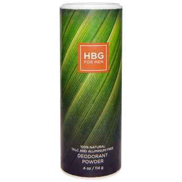 Honeybee Gardens, HBG for Men, Deodorant Powder, Bay Rum, 4 oz (114 g)