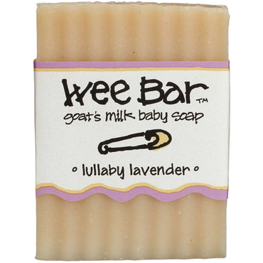 Indigo Wild, Wee Bar, Goat's Milk Baby Soap, Lullaby Lavender, 3 oz Bar
