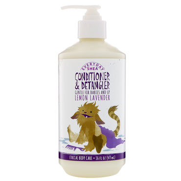 Everyday Shea, Conditioner & Detangler, Gentle for Babies and Up, Lemon Lavender, 16 fl oz (475 ml)